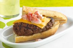 Steakhouse Cheeseburgers recipe ~ one of my absolute favorite burger recipes but we used Havarti cheese and sourdough ciabatta to really make them something special.