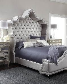Haute House Antoinette Bed - Horchow-I am sure if I were home sick in bed....this bed would make me well! Love it!