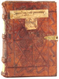 German blind-tooled calfskin from the early sixteenth century. At this time books were not titled on the spine. The paper title pieces on this binding are a later addition. Author:Morgenstern, Gergorius Title:Sermones contra omnem mundi perversum statum. Published:Strasbourg: Wilhelm procurator [Schaffrer] de Roperschwiler, 1513..large.jpg (1664×2228)