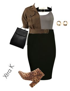 """""""Plus work or play style/simple"""" by xtrak ❤ liked on Polyvore featuring CHARLES & KEITH, Boohoo, Anissa Kermiche, MANGO, Veronica Beard and Charlotte Russe"""