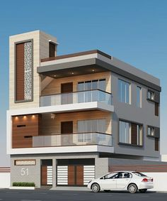 66 Beautiful Modern House Designs Ideas - Tips to Choosing Modern House Plans Modern Exterior Design Ideas Luxury Home 3 Storey House Design, Duplex House Plans, Bungalow House Design, House Front Design, Modern House Plans, Tiny House Design, Modern House Design, Front Elevation Designs, House Elevation