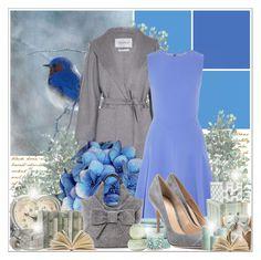 """Bluebird"" by lilarose111 ❤ liked on Polyvore featuring MaxMara, Iris & Ink, Kate Spade, Gianvito Rossi, Debenhams, Judy White Studio, Laura Ashley, INC International Concepts and Voluspa"