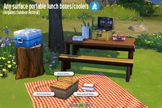 Sims 4 CC's - The Best: Any-Surface Portable Lunch Boxes/Coolers by Sandy ...