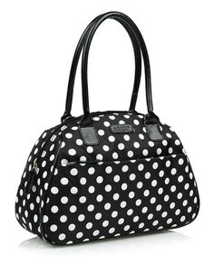 Take a look at this Black & White Polka Dot Lunch Tote by Sachi on #zulily today!