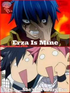 that's his girlfriend , the beautiful erza