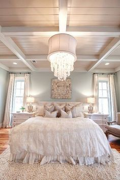 Chandeliers for High Ceilings Bedroom Decoration