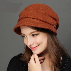 Womens Winter Hats Crushable Visor Nesboy Bucket Warm Cap
