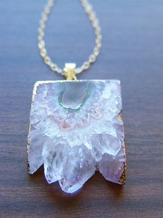 Vanilla Stalactite Necklace 14k Gold  OOAK by friedasophie on Etsy, $79.00