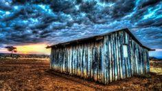Maasai Home At Sunset In Kenya