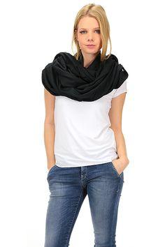 LIU.JO - Sciarpe - Abbigliamento - Sciarpa in viscosa con frange sul fondo. - NERO - € 39.00