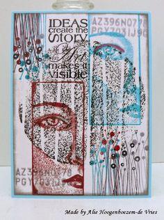 Stamped card, made by Alie Hoogenboezem-de Vries