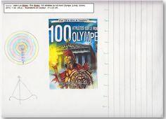 """Couverture réalisée par Ryan à partir du livre """"100 athlètes sur le Mont Olympe"""" de Jean-Luc Bizien. Pour voir mon livre, il faut cliquer sur mon dessin."""
