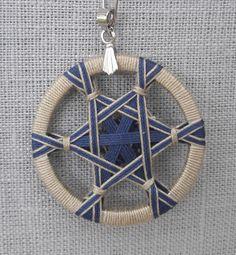 textiles, textilkunst, artdolls, schmuck Upcycled Crafts, Diy Crafts To Sell, Crochet Dreamcatcher, Dorset Buttons, Micro Macrame, Macrame Bag, Diy Buttons, Fabric Necklace, Passementerie