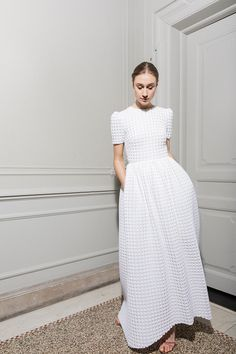 Are you looking for a Scandi wedding dress? You'll love the latest collection of Maria Fekih wedding dresses, modern, minimal, chic wedding dresses. Minimal Wedding Dress, Chic Wedding Dresses, Wedding Dress Shopping, Designer Wedding Dresses, Bridal Dresses, Wedding Dresses Simple Short, Reception Dresses, Bridesmaid Gowns, Gown Wedding