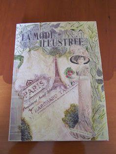 La mode illustree Paris Decoupage, Paris, Cover, Books, Painting, Libros, Book, Painting Art, Paintings