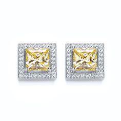 BOUTON princess yellow stud earrings