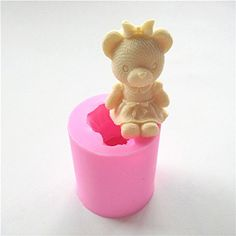 Wocuz W0493 Girl Bear Shaped Silicone Candle Making Mold Soap Mold DIY Craft Mould Cake Top Decoration *** To view further for this item, visit the image link.