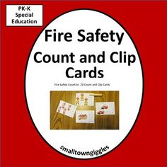 Kindergarten Math Centers Luxury Fire Safety Count to 20 Count and Clip Kindergarten Special - AIAS Kindergarten Special Education, Kindergarten Math Activities, Education Quotes For Teachers, Quotes For Students, Fun Math, Math Resources, Counting To 20, Fire Safety, Elementary Science