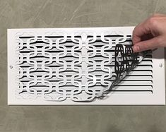 Magnetic Vent Covers For A Decorative Touch In by ReVentDesigns Wall Vent Covers, Vent Covers Decorative, Floor Vent Covers, Return Air Vent, Register Covers, Ac Vent, Magnetic Wall, White Vinyl, Home Repair