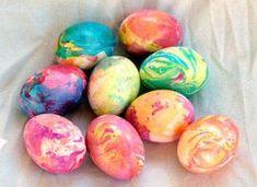 Marbled egg design