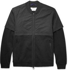 OAMC - Black Panelled Cotton-Blend Bomber Jacket