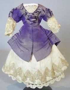 French Fashion Antique Doll Clothing Dress