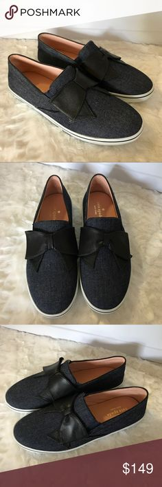 NEW Kate Spade Delise Too Denim Slip On Sneakers NEW without box. Kate Spade Delise Too Denim Slip On Bow Sneakers. So cute! Size 8.5. Check out my closet for bundles! kate spade Shoes Sneakers