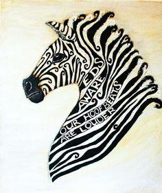 Ehlers Danlos Syndrome Zebra By Cherish Fletcher @ The Wellness Trees Project #EDS #Ehlers-Danlos #Zebra