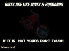 Hands off! Biker Quotes, Motorcycle Quotes, Biker Girl, Wheels, Hands, Sayings, Lyrics, Biker Chick, Girls On Bikes