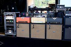 Aerosmith 9.16.07 Nissan Pavilion Brad Whitford Rig by guitartech, via Flickr
