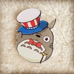 Totoro Acrylic Pin Badge //Price: $7.95 & FREE Shipping //     #studioghibli