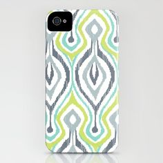 Website features PAGES of adorable iPhone cases! (Sketchy IKAT iPhone Case by Patty Sloniger - $35.00)