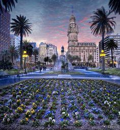 Montevideo: Plaza de la Independencia.