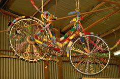Yarnbomb bike art