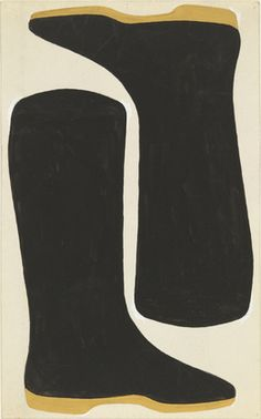 Jo Baer. Bootless Boots. 1960