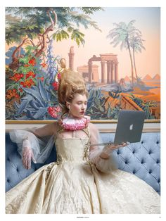 Marzook& Marie Antoinette-Themed Show Fetes its Fall 2017 Collection Marie Antoinette, Madame Pompadour, Classical Art Memes, Academic Art, Arte Pop, Limited Edition Prints, Contemporary Paintings, Collage Art, Illusions