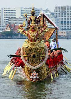 Royal Barge Narai Song Suban HM Rama IX. Thailand.