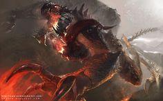 Magma Dragon by ChunLo.deviantart.com on @deviantART