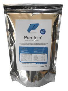 $66 - Puretein Whey Protein Isolate, Healthy Eating, Bag, Food, Eating Healthy, Purse, Healthy Diet Foods, Clean Foods, Eten
