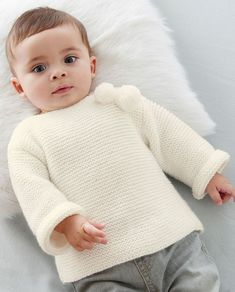 Crochet Clothes, Baby Knitting, Knitwear, Knitting Patterns, Turtle Neck, Pullover, Point Mousse, Cute, Fabric