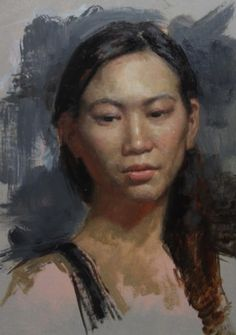 The Grand Central Academy of Art's Annual Portrait Sketch Competition concluded on Aug. Woman Painting, Painting & Drawing, Cesar Santos, Oil Portrait, Portrait Paintings, Cuban Art, Pastel Portraits, Portrait Sketches, American Artists