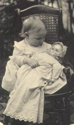 Girl and Doll. A patented washable-and of course, they weren't