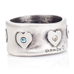 88cdfea3a Danon crystal heart pattern ring B Fashion, Heart Patterns, Sterling Silver  Jewelry, Silver