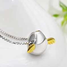 New Arrivals Fenice -  Angel Egg Necklaces & Pendants 925 Sterling Silver