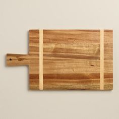 One of my favorite discoveries at WorldMarket.com: Wood Bread Cutting Board