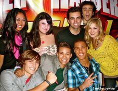 Cast with fans