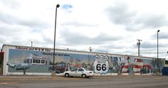 """ Mural of W & W Tire "" in Edmond Oklahoma  "" Route 66 on My Mind "" http://route66jp.info Route 66 blog ; http://2441.blog54.fc2.com https://www.facebook.com/groups/529713950495809/"