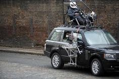 camera rig driving from the roof