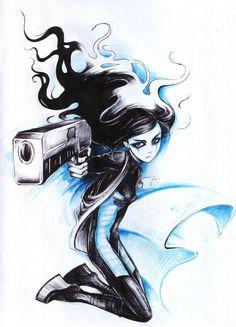 ergo proxy fan art re-l A Monster Calls, Ergo Proxy, Memes Arte, Mystery, Fantasy Pictures, Mary, Fan Art, Bullshit, Drawings