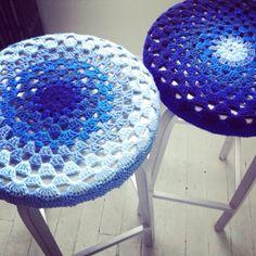 Free Pattern: Crochet Bar Stool Covers | FlorrieMarie